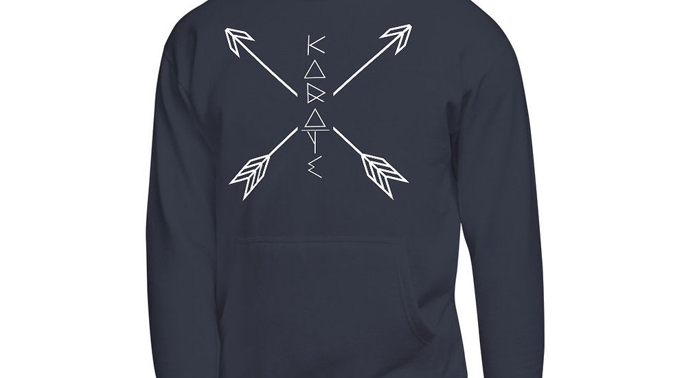 Unisex Modern Geometric Arrows KARATE | Front Only Hoodie