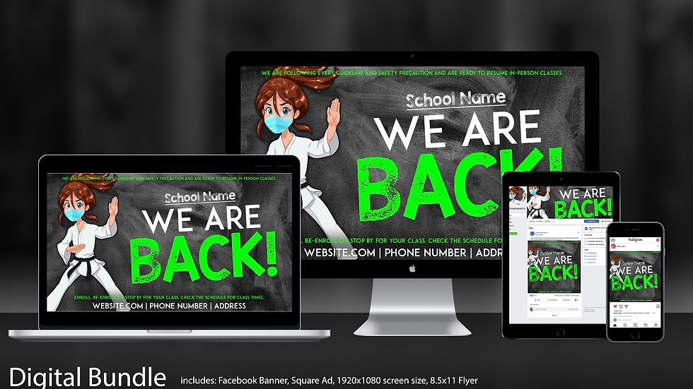 "COVID Social Media Bundle in ""We Are Back!"""