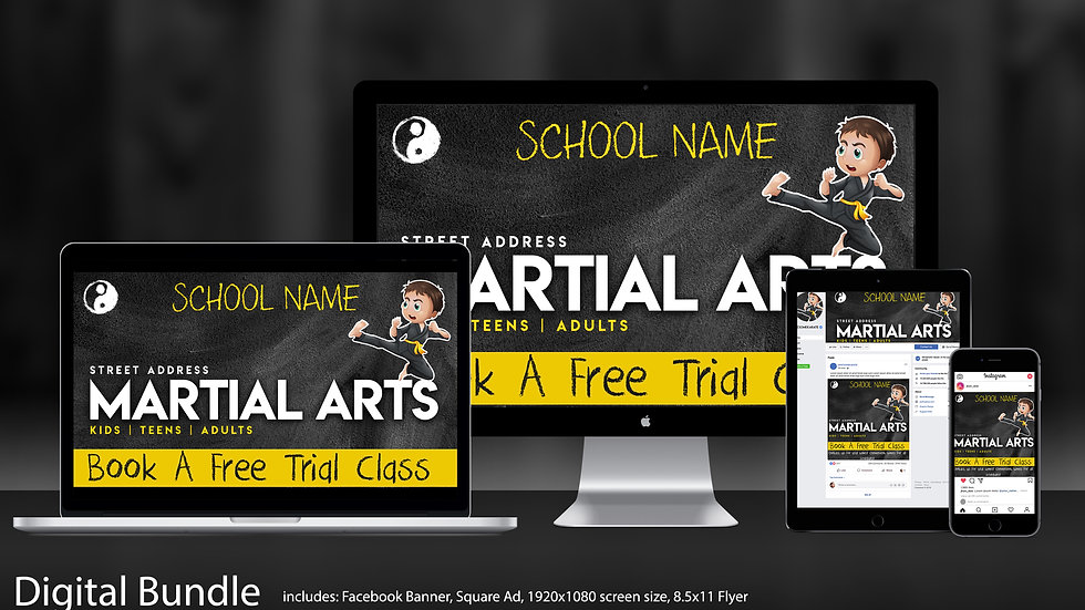 "Social Media Package Bundle in ""Chalkboard Boy"""