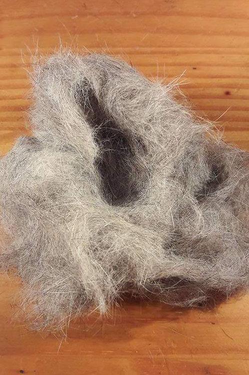 Dubbing de lapin naturel gris clair