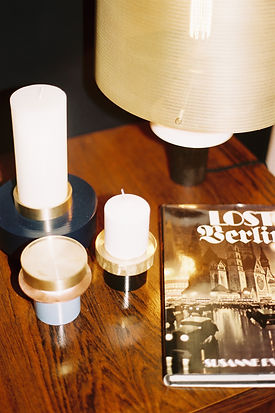 Lampe et bougeoirs Marine Breynaert