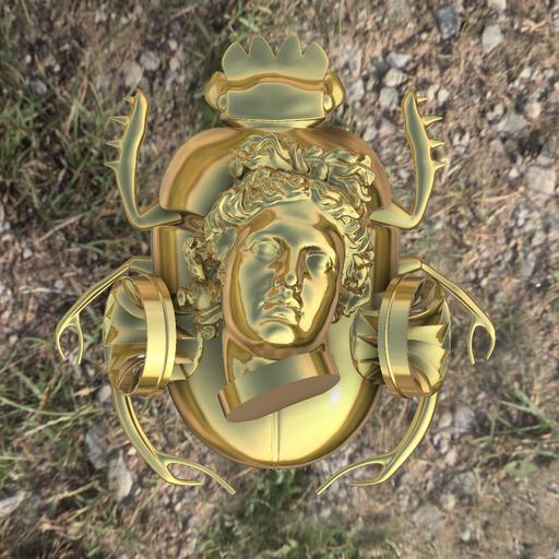 Gold Apollo beetle Exoblock
