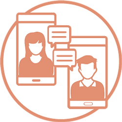 אייקון שיחה - אפליקציית הכרויות - אתר הכרויות - הכרויות