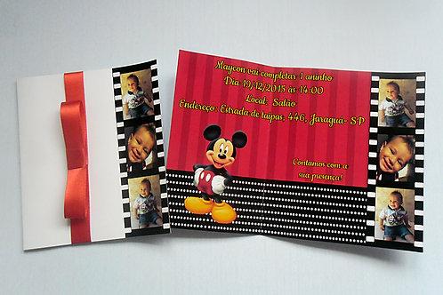 50 Convites em Papel Fotográfico 10x15