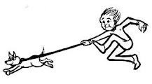 Riverton Chiropractor - Dog Walking Cartoon