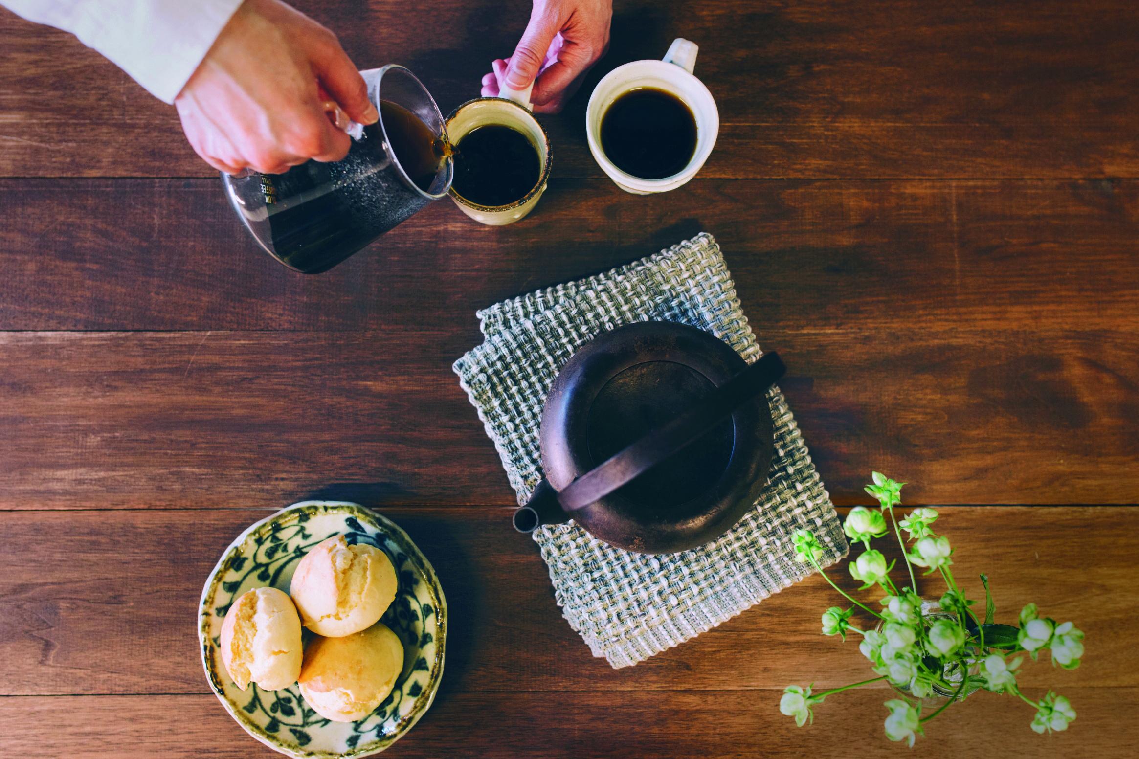 コーヒー俯瞰