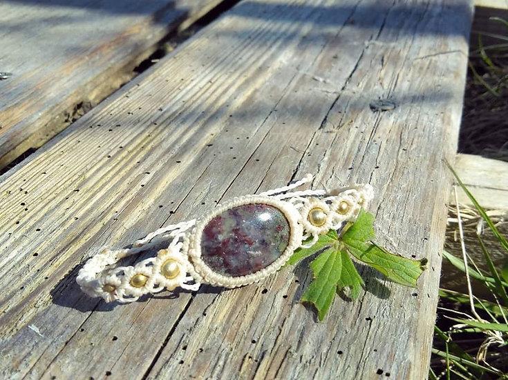 Bracelet avec Agate mousse