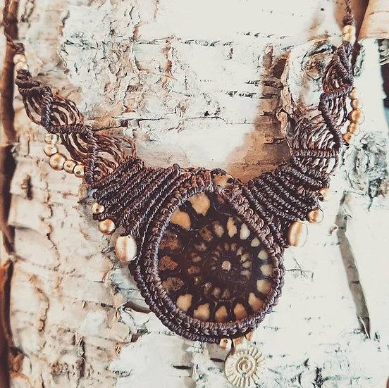 """Collier """"Ère du Temps"""" avec Ammonite"""