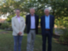From left to right: Tim Edwards, former President; Jan-Dieter Bruns, President and Henk Raaijmakers, Vice-president.