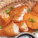 Porção de peixe empanado