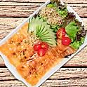 Salada carpaccio de salmão
