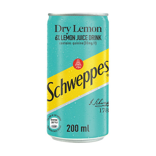 Schweppes Dry Lemon 200ml x 6