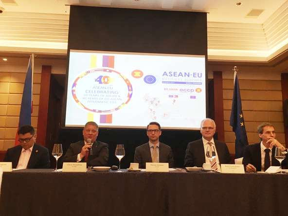 5th ASEAN-EU Business Summit Press Conference, Manila