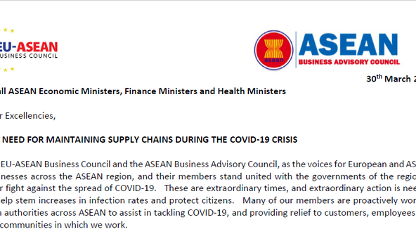 COVID-19 Statement by EU-ASEAN Business Council and ASEAN Business Advisory Council