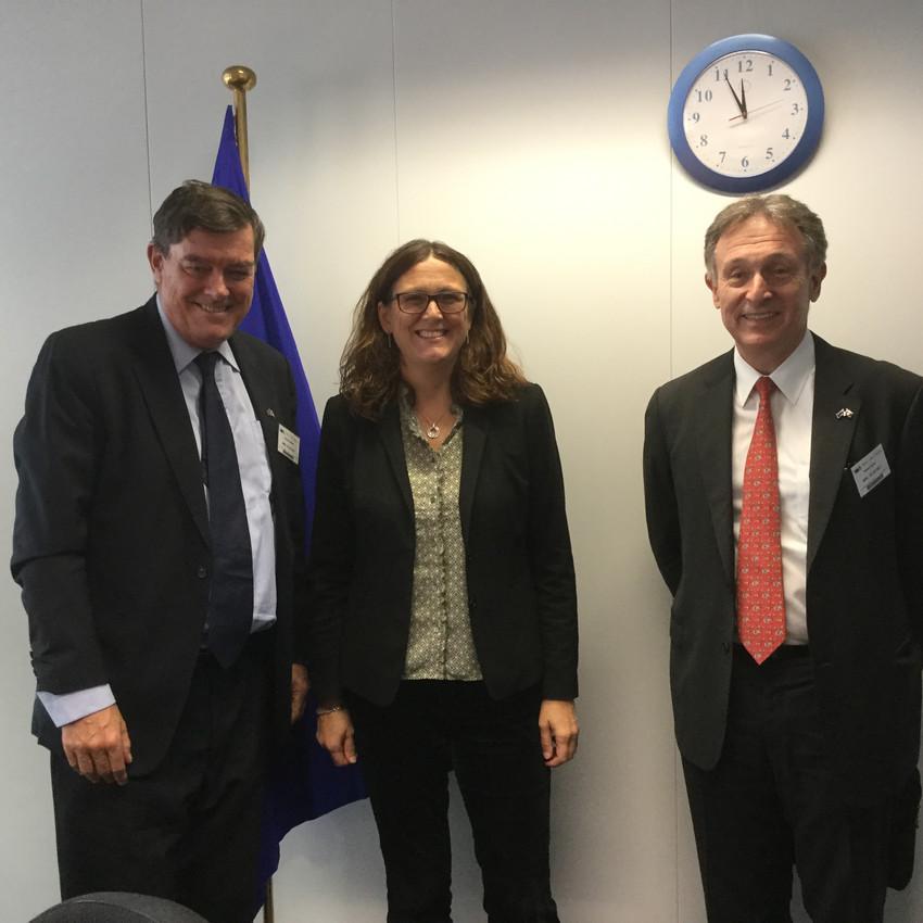 With EU Trade Commissioner Malmstrom