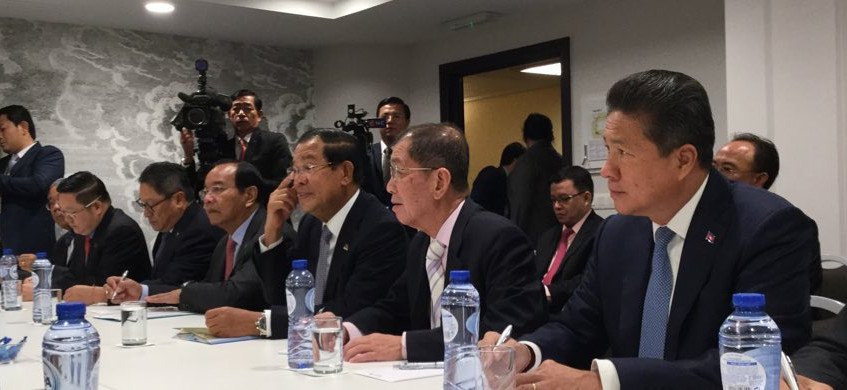 Cambodia PM Meeting