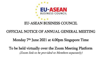 EU-ASEAN Business Council AGM Official Notice
