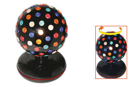 globe with colored lens