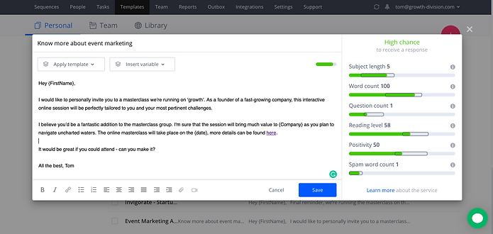 Reply.io Email marketing automation tool