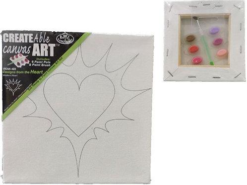 Royal and Langnickel - Heart Design Canvas Art Set Paints & Brush