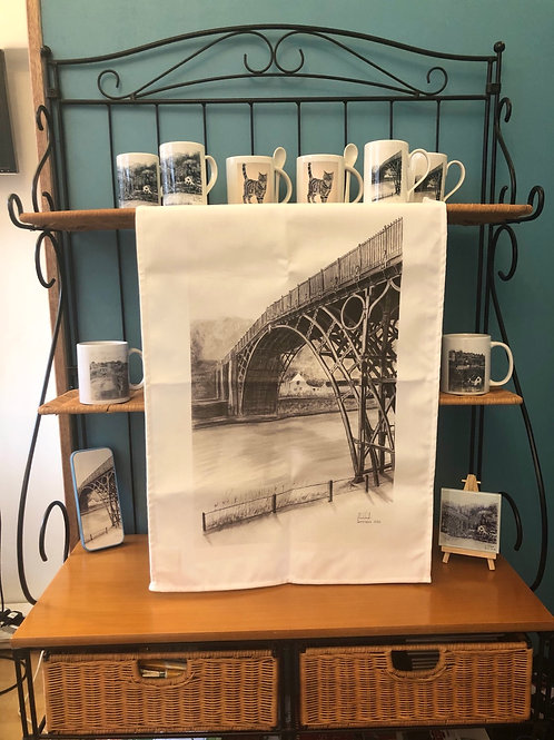 Large Tea Towel 70cm x 40cm - Ironbridge