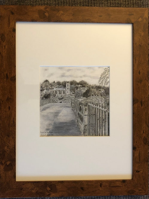 Across the Iron Bridge - Framed Original