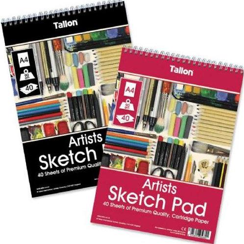 Tallon A4 Artists 40 Sheets Sketch Pad