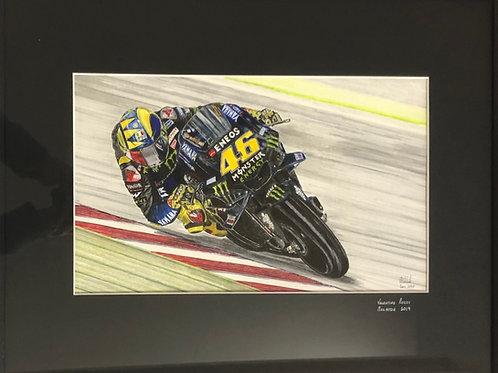 Valentino Rossi Framed Giclée Print