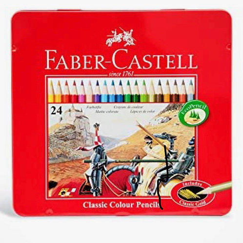 Faber-Castell Classic Colored Pencils Tin Set 24