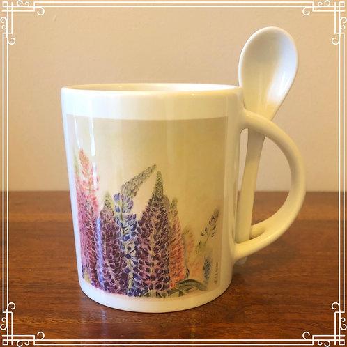 Mug & Spoon - Lupins