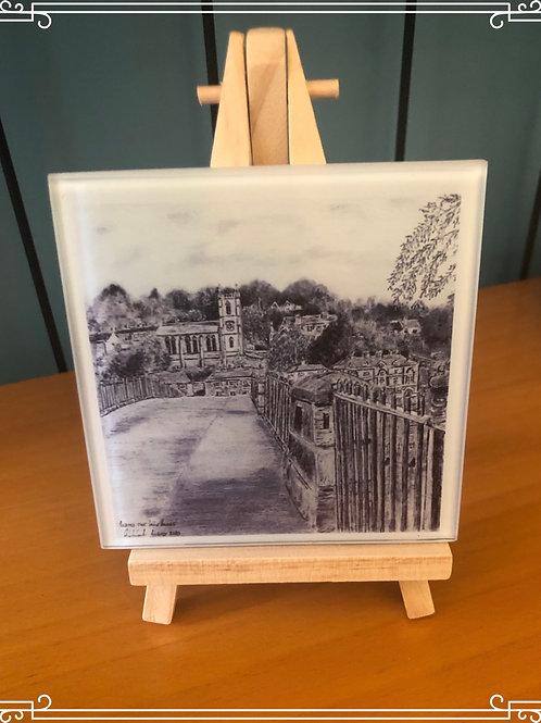 Glass coaster - Across the Ironbridge