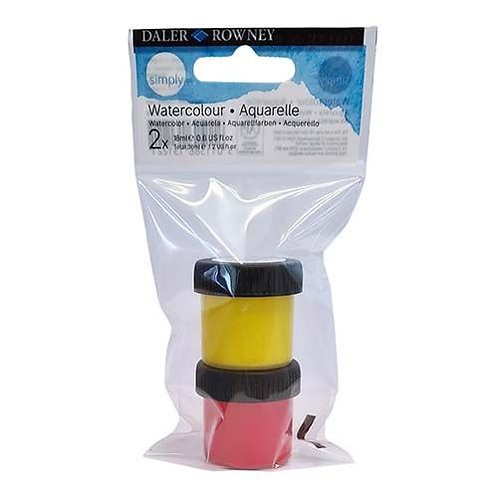 Watercolour pots red/yellow x 2 Daler Rowney
