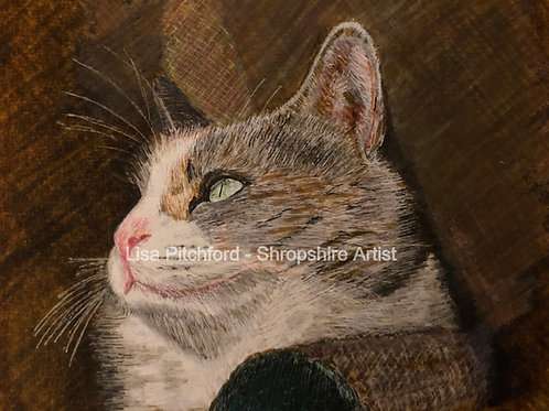 Ruby Cat - Giclée Print with mount