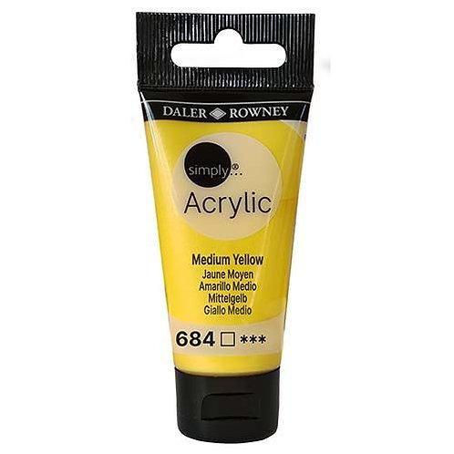 Daler-Rowney Acrylic Medium Yellow 30ml
