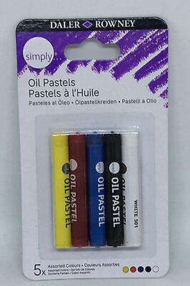 Oil pastels x 5 - Daler Rowney