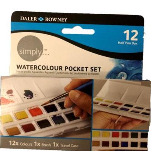 Watercolour Pocket Set Simply Daler Rowney