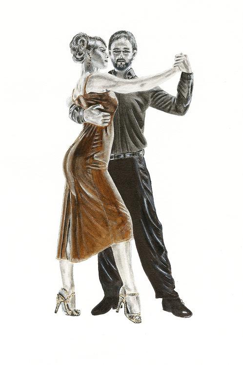 Argentinian Tango - Framed Original