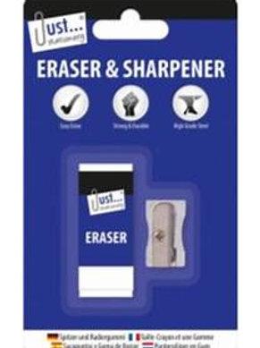 Eraser & Metal Sharpener