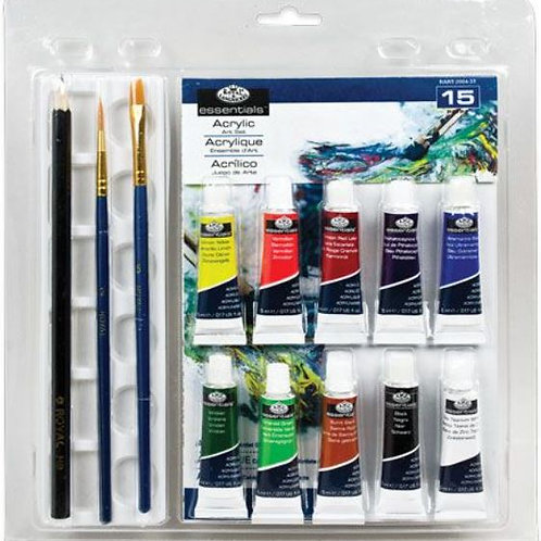 Royal and Langnickel  - 15 piece Acrylics Art Painting Set, With A5 Artist Pad