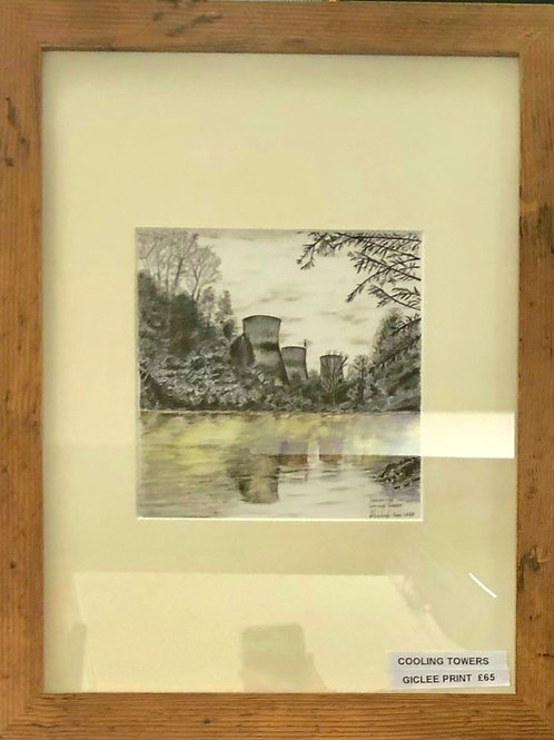 Cooling Towers - Framed Giclée Print