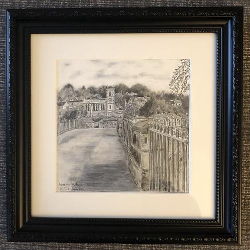 Across the Iron Bridge - Framed Original