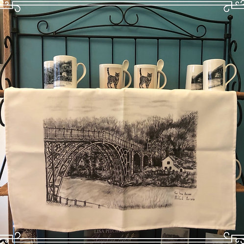 Large Tea Towel 70cm x 40cm - Ironbridge