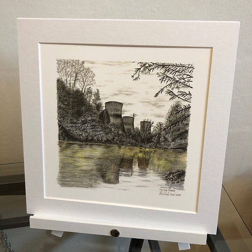 Cooling Towers - Mounted Fine Art Print