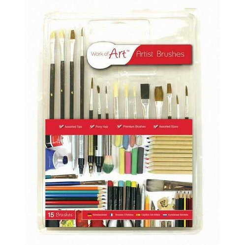Work Of Art 15 Paint Brushes