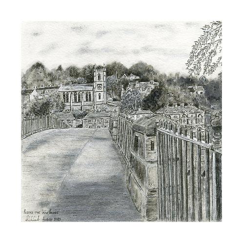 Across the Iron Bridge -  Mounted Giclée Print