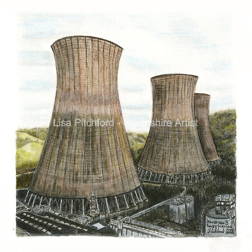 Cooling Towers - Mounted Giclée Print