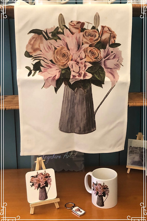 Tea Towel  - Jug of Flowers