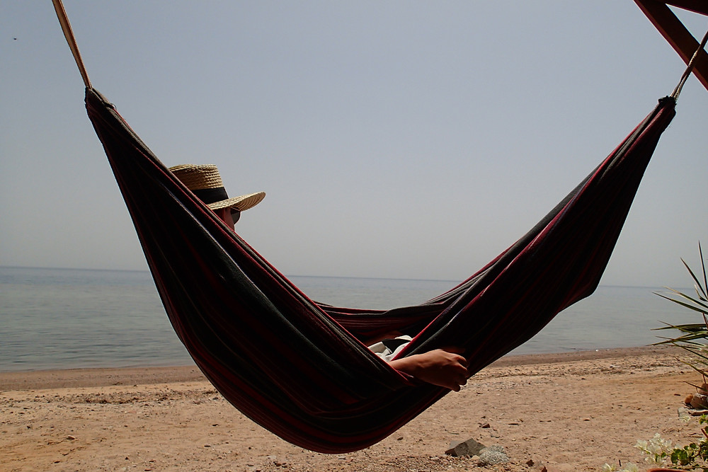 Relaxing in a seaside room at Bedouin Star
