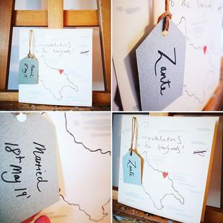 Hand made, bespoke wedding card 😍 _haze