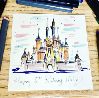 The famous Disney Castle 😍 hand drawn ✏